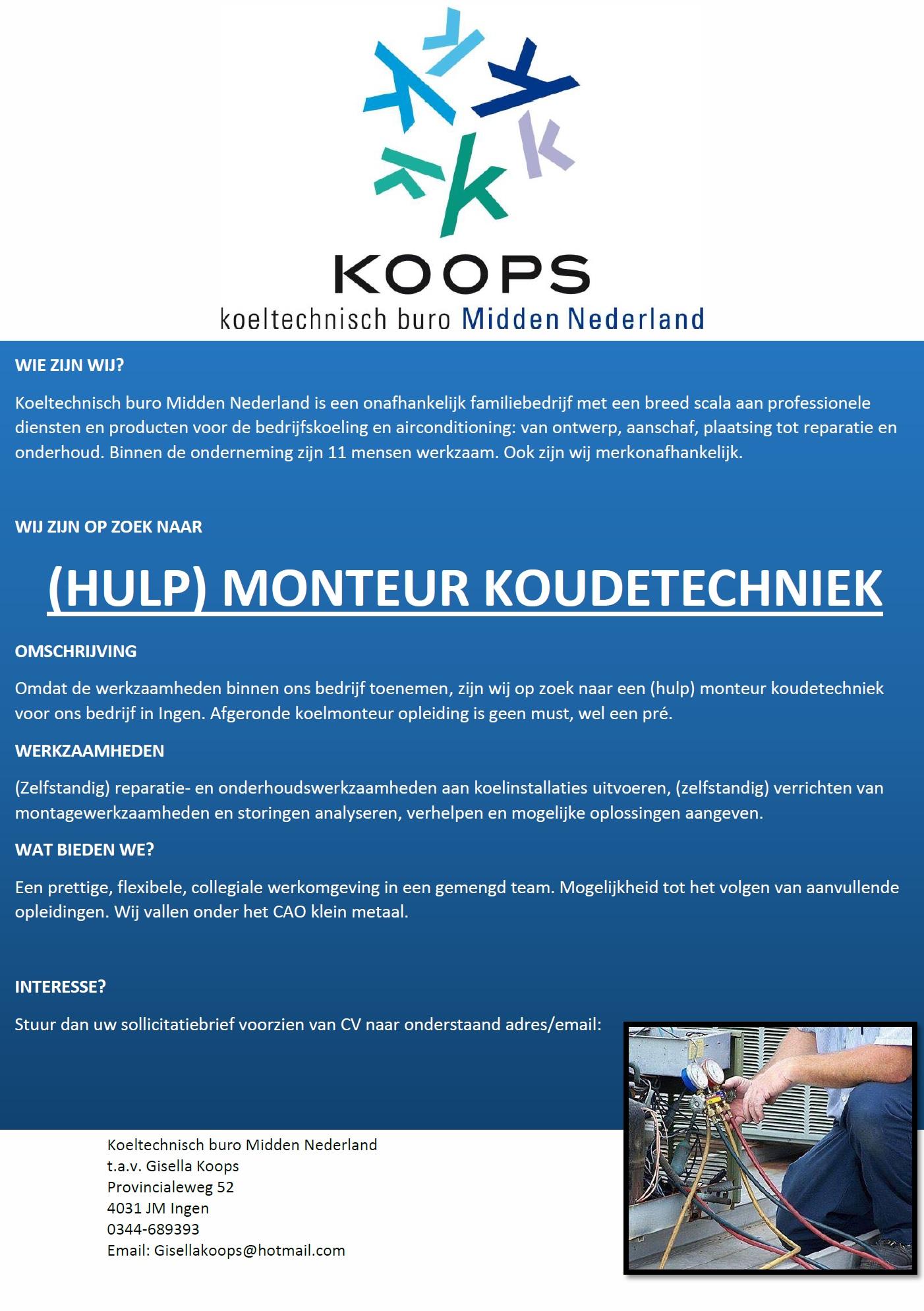 koeltechnisch buro Midden Nederland